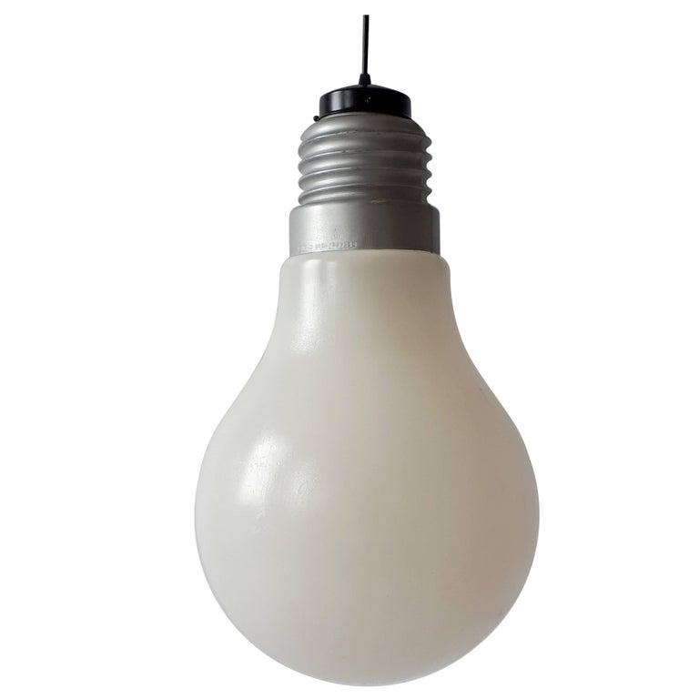 light bulb pendant ceiling plastic light bulb pendant from ingo maurer 1969 usa for sale at 1stdibs