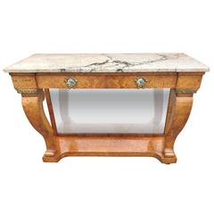 Early 20th Century Amboyna Console Table