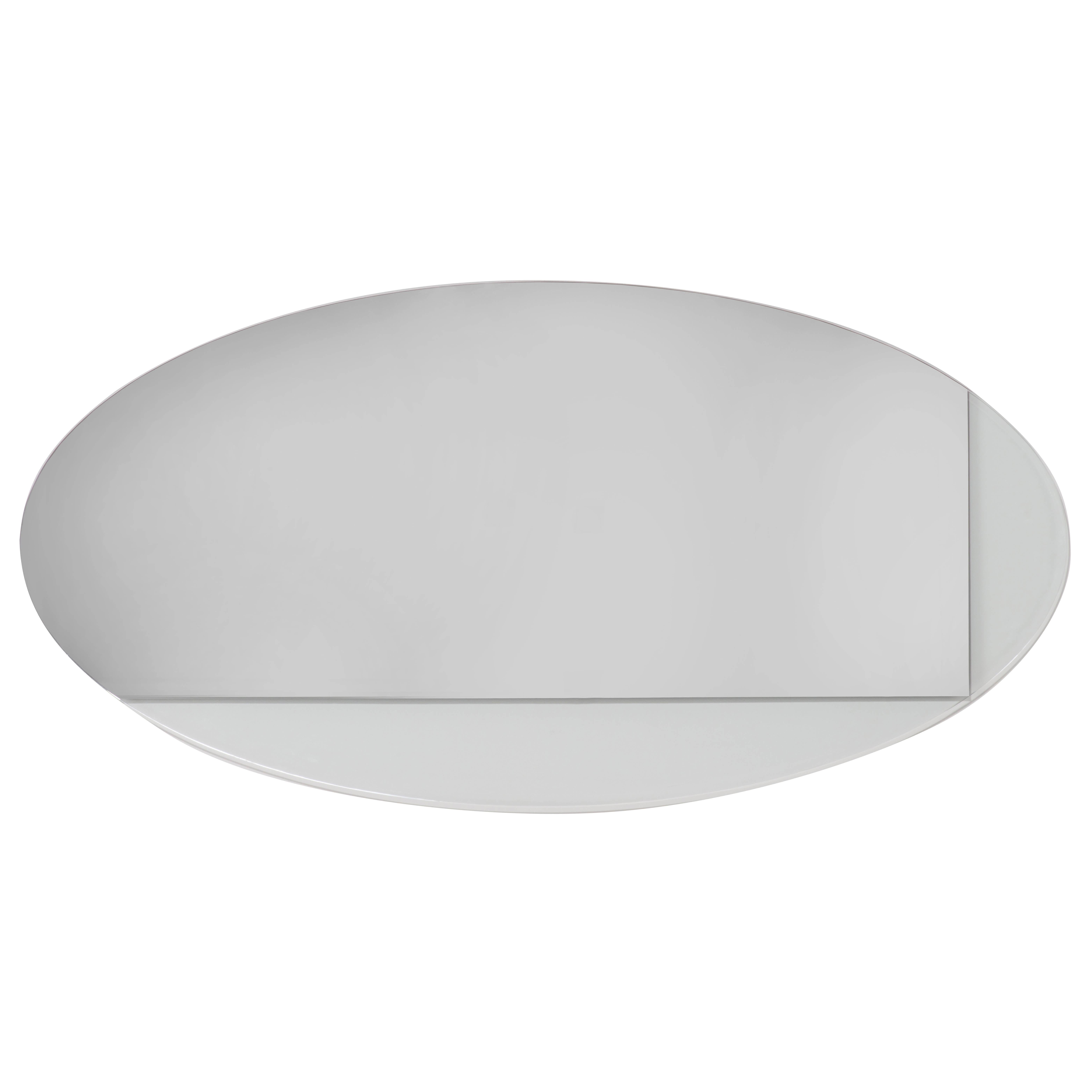 Large Oval Mirror with removal - Ida Mirror Collection Contemporary Oval