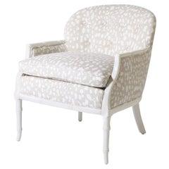 Faux Bamboo Club Chairs for Kravet fabric, circa 1960