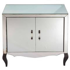 Mirrored Two Doors Chest of Drawer, 1940-1950