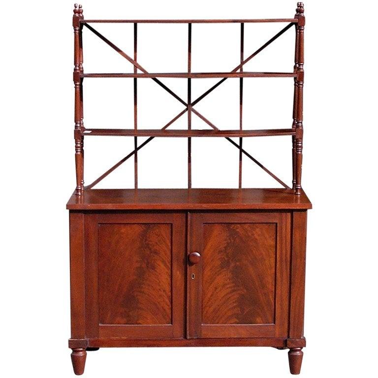 English Regency Mahogany Bookcase