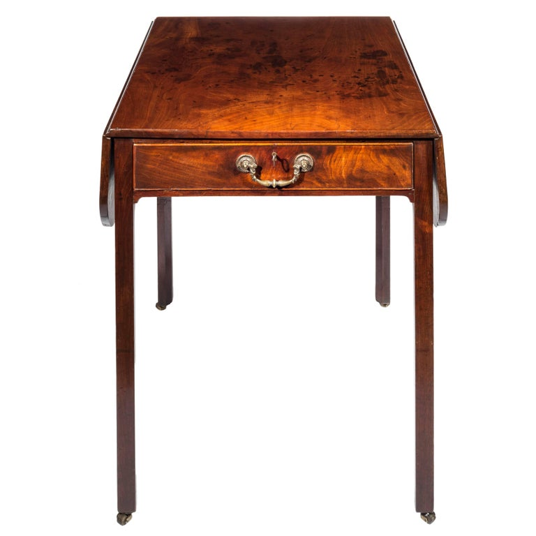 English 18th Century George III Chippendale Mahogany Pembroke Table