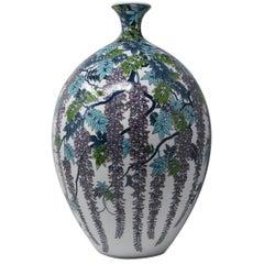 Large Japanese Decorative Porcelain Vase by Master Artist