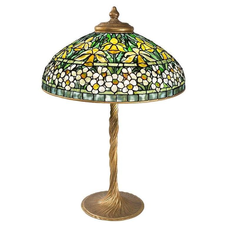 "Tiffany Studios New York ""Jonquil-Daffodil"" Table Lamp For Sale"