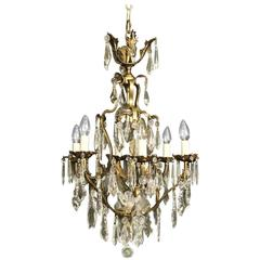 French Birdcage Seven-Light Antique Chandelier