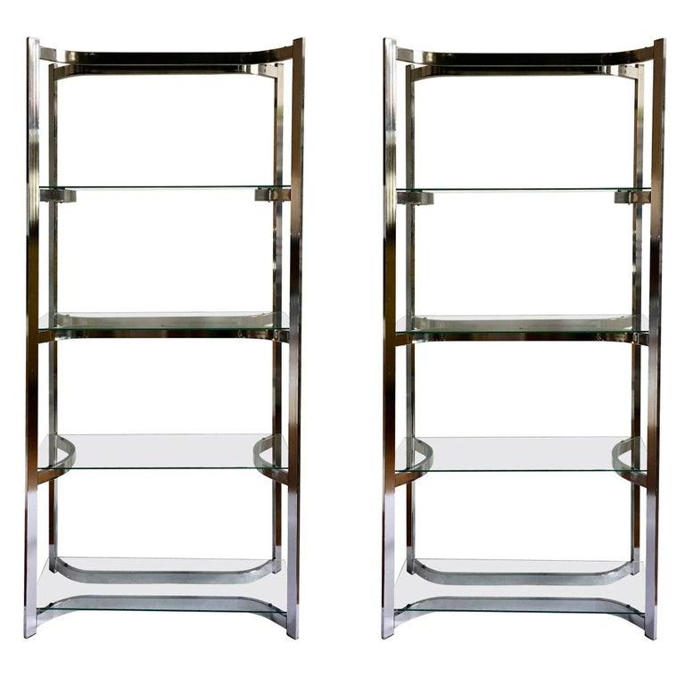mid century modern chrome etag res pair for sale at 1stdibs. Black Bedroom Furniture Sets. Home Design Ideas