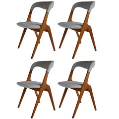 Johannes Andersen Dining chairs, set of 4. Fully Restored.