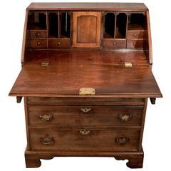 Antique Writing Desk Bureau Chest English Georgian Mahogany Quality, circa 1800