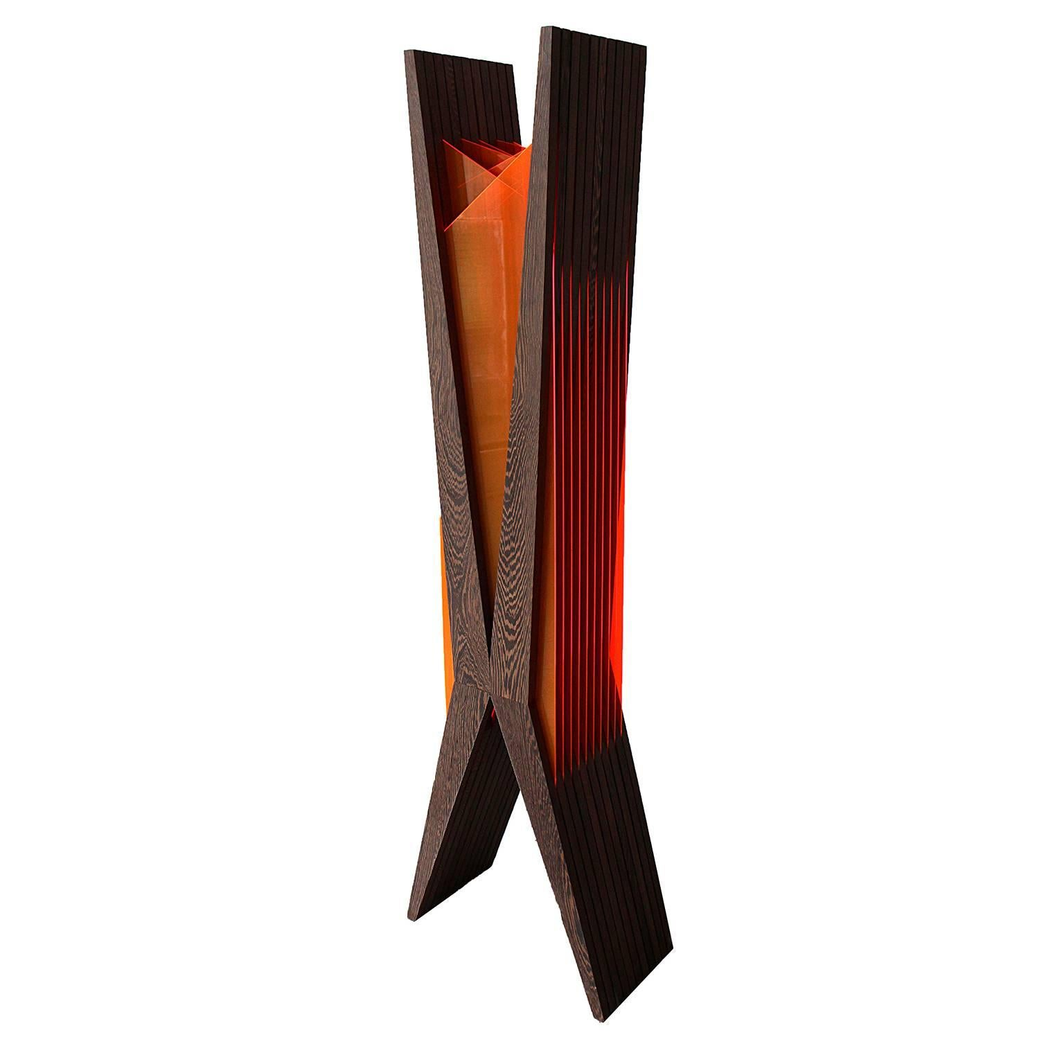 Limited Edition Series LED and Natural Light Reflecting Floor Lamp Sculpture
