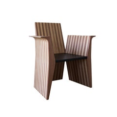 Oak and Sipo Solid Wood Handcrafted Contemporary Design Armchair