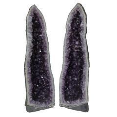 Monumental Amethyst Geode, Pair
