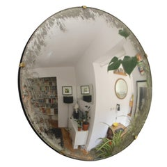 Convex Orbis Mirror Silver with Ivory Antiqued Finish