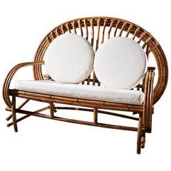 Stunning Mid-Century Bamboo Sofa