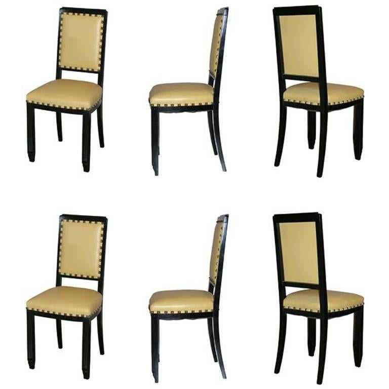 Set of Six Mid Century Chairs For Sale