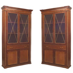Pair of Early 19th Century Russian Mahogany Bookcase Cabinets