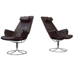 Pair of Bruno Mathsson for DUX Jetson Lounge Chairs