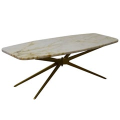 Italian Marble-Top Starburst Coffee Table