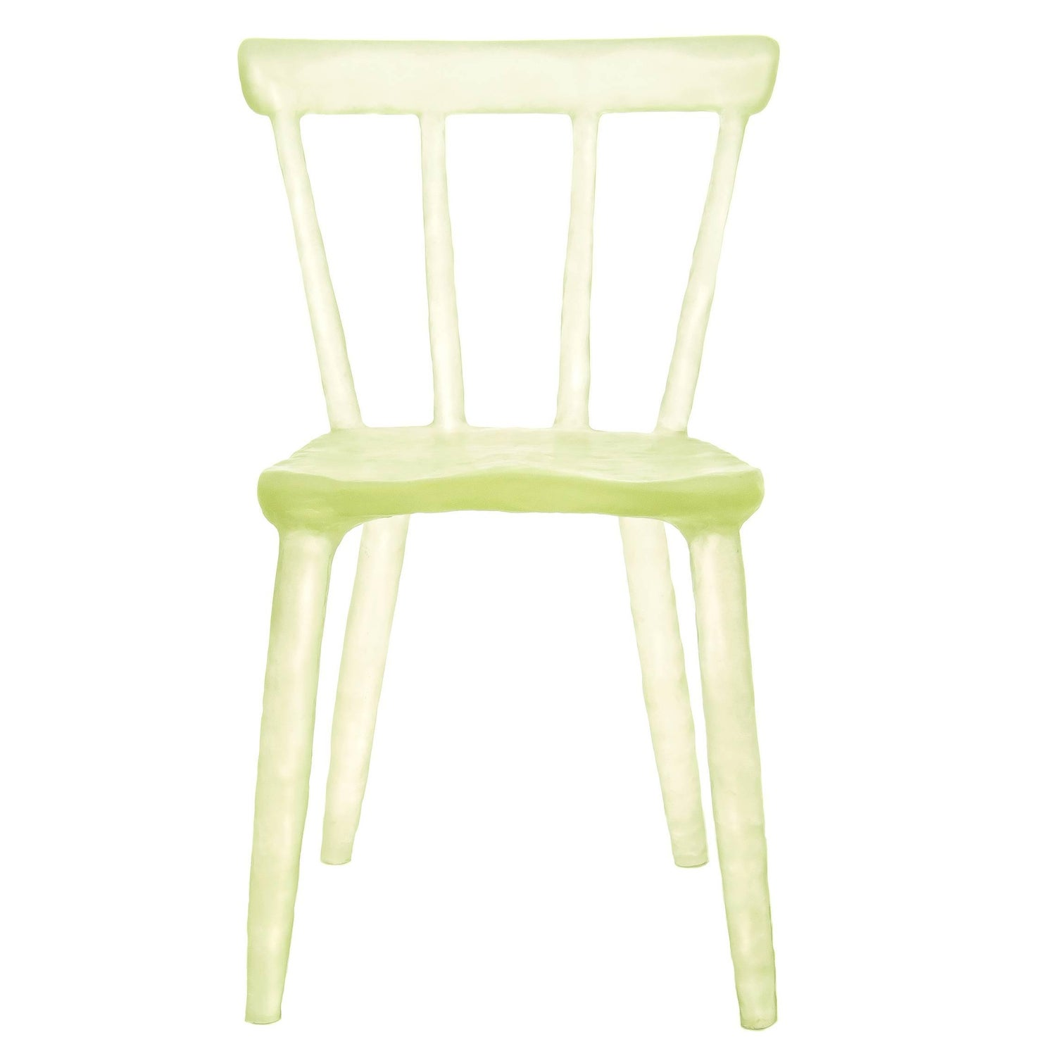 Glow Chair by Kim Markel in Yellow Handmade from Cast Recycled