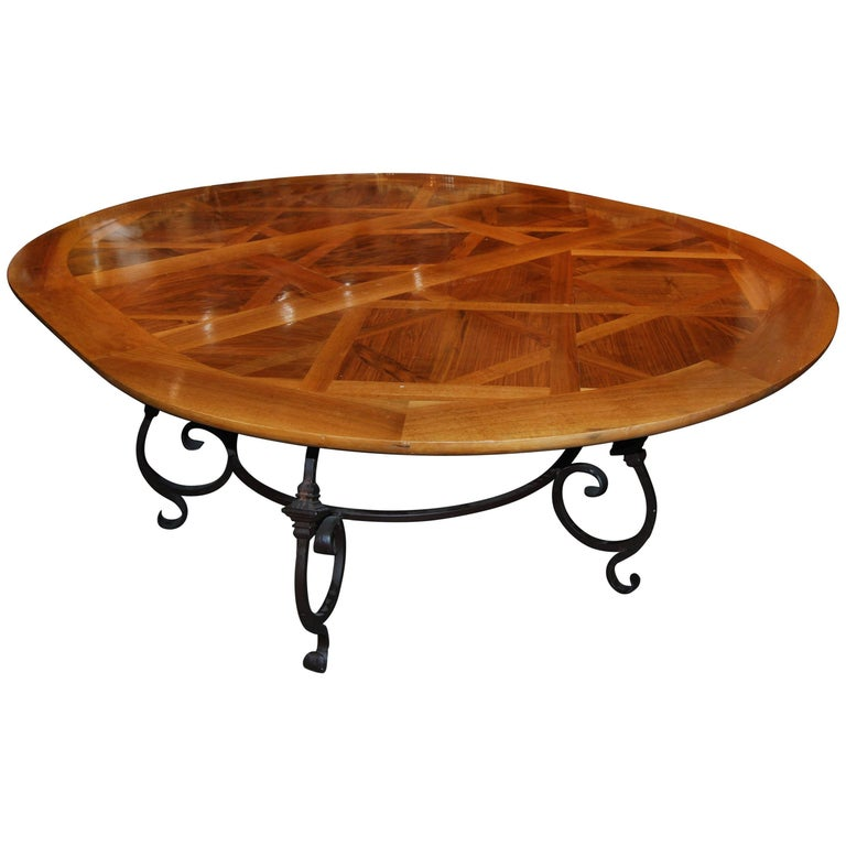 Fabulous Parquet de Versailles Oval Dining Table 1