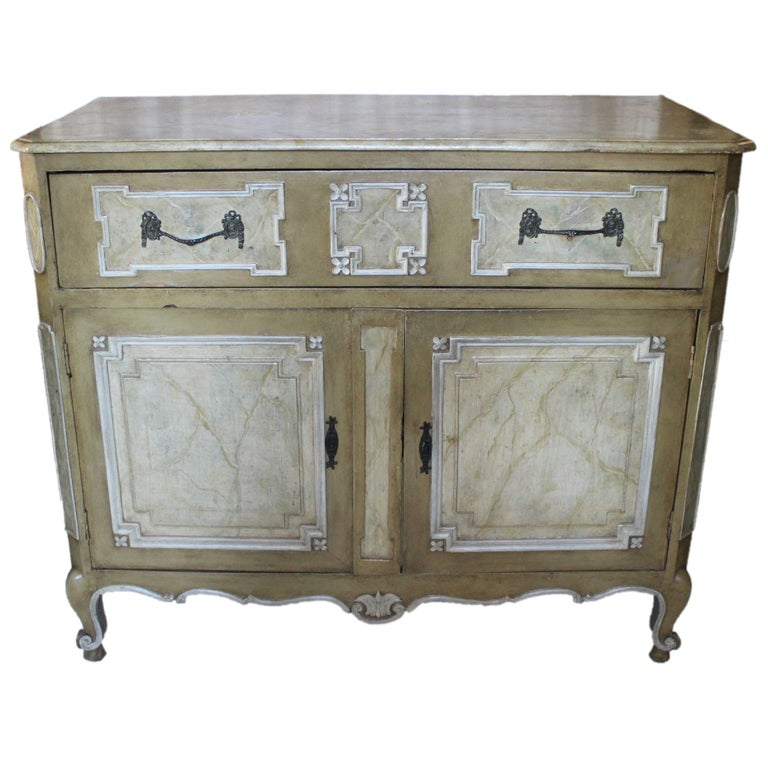 19th Century Painted Cabinet