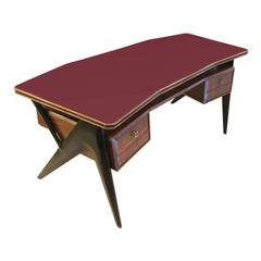 Mid-Century Executive Desk by Silvio Cavatorta