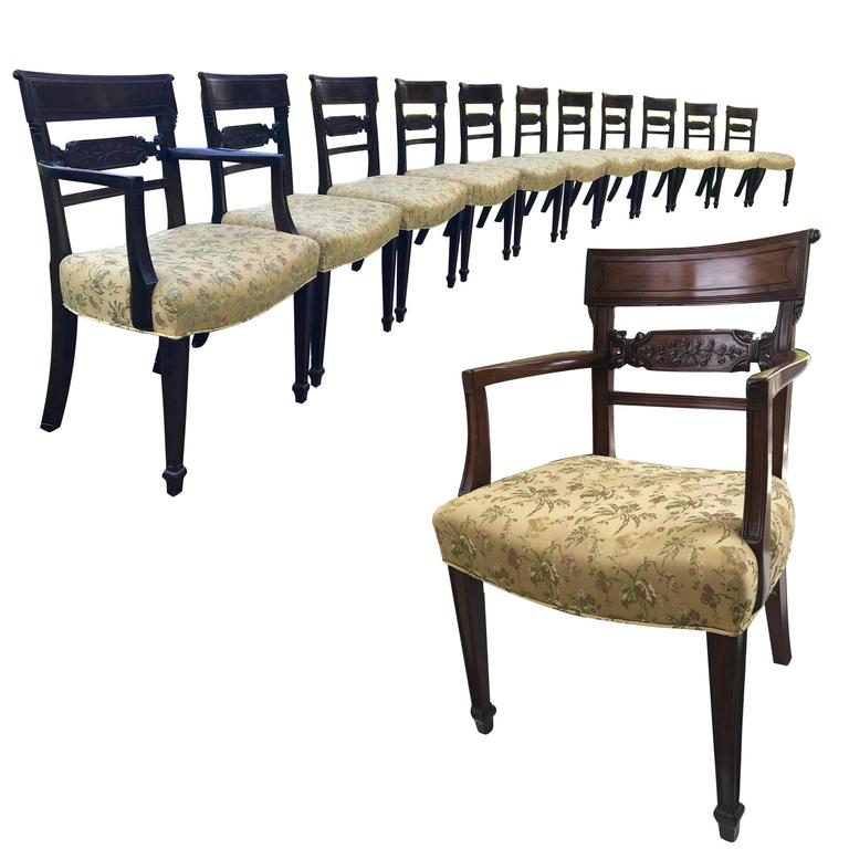 Regency Mahogany Dining Chairs For Sale