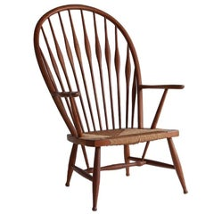 Windsor Peacock Style Chair with Rush Seat