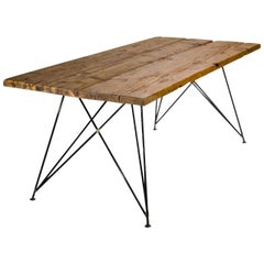 """Dining Room Table """"MC 01"""" by Manufacturer WUUD in Spruce Wood and Steel (220 cm)"""