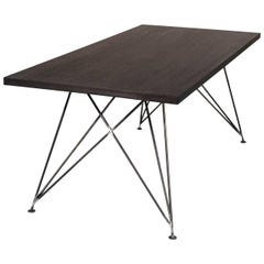 """Dining Room Table """"MC 02"""" by Manufacturer WUUD in Oak Wood and Steel (220 cm)"""