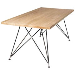 """Dining Room Table """"MC 02"""" by Manufacturer WUUD in Oak Wood and Steel (250 cm)"""