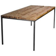 """Dining Room Table """"NO 01"""" by Manufacturer WUUD in Spruce Wood and Steel (220 cm)"""