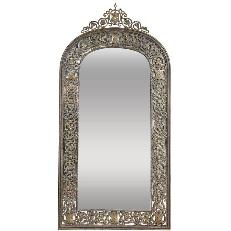 Oscar Bach Cast Bronze Mirror