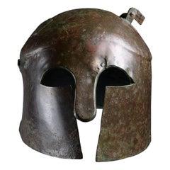 Ancient Greek Bronze Helmet, 6th Century BC