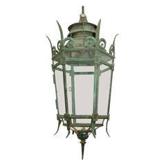 Large English Bronze Lantern, circa 1840