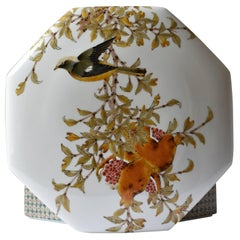 Yamada Yoshiaki Contemporary Hand-Painted Kutani Decorative Porcelain Box