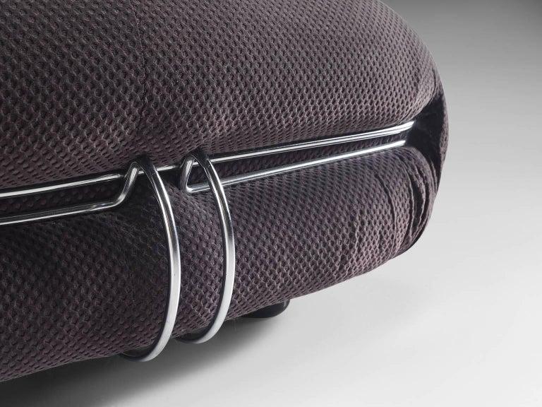 Steel Afra & Tobia Scarpa 'Soriana' Sofa