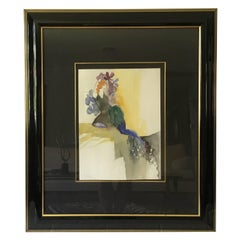 "1980s Itzchak Tarkey ""Antoinette"" Original Watercolor, Framed"