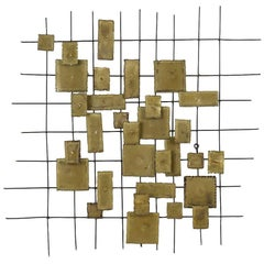 Mid-Century Brutalist-style Wall Sculpture