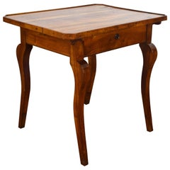 French Louis Philippe Walnut One Drawer Table, circa 1840