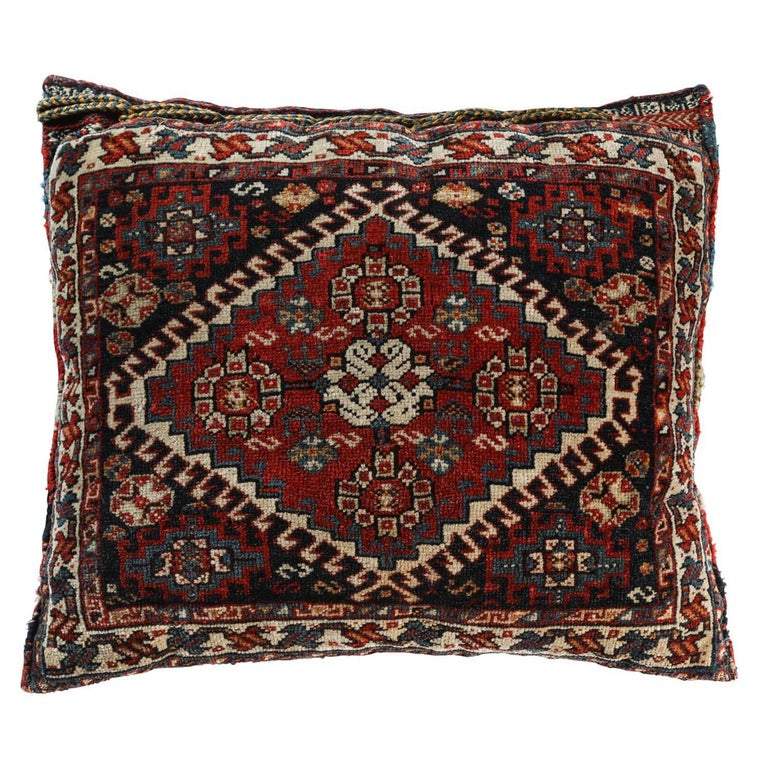 Antique Southwest Persian Saddle Bag Pillow For Sale