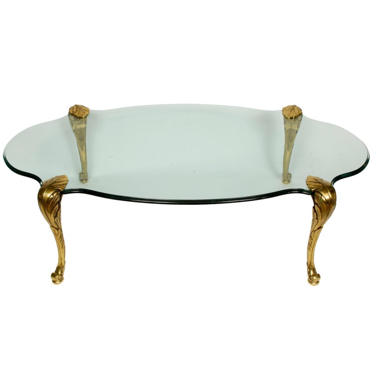 French Tail Table With Palm Tree Legs For