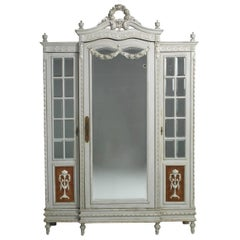 Antique French Armoire in Original Paint