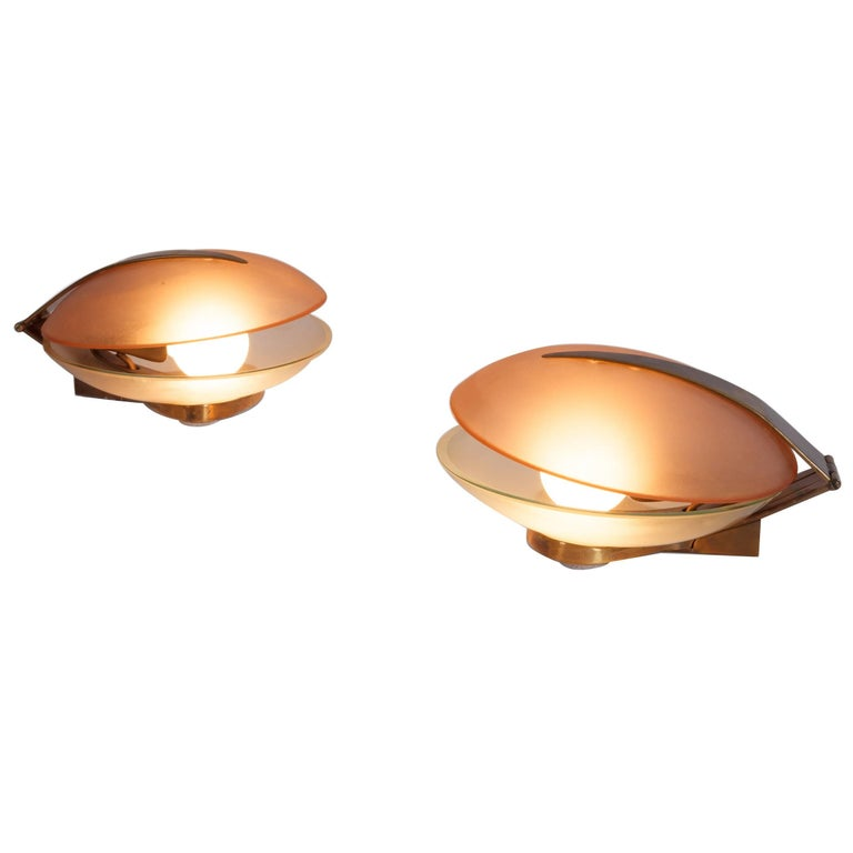 Max Ingrand for Fontana Arte Pair of Table Lamps or Sconces