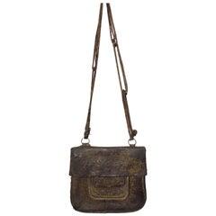 African Leather Tribal Shoulder Bag