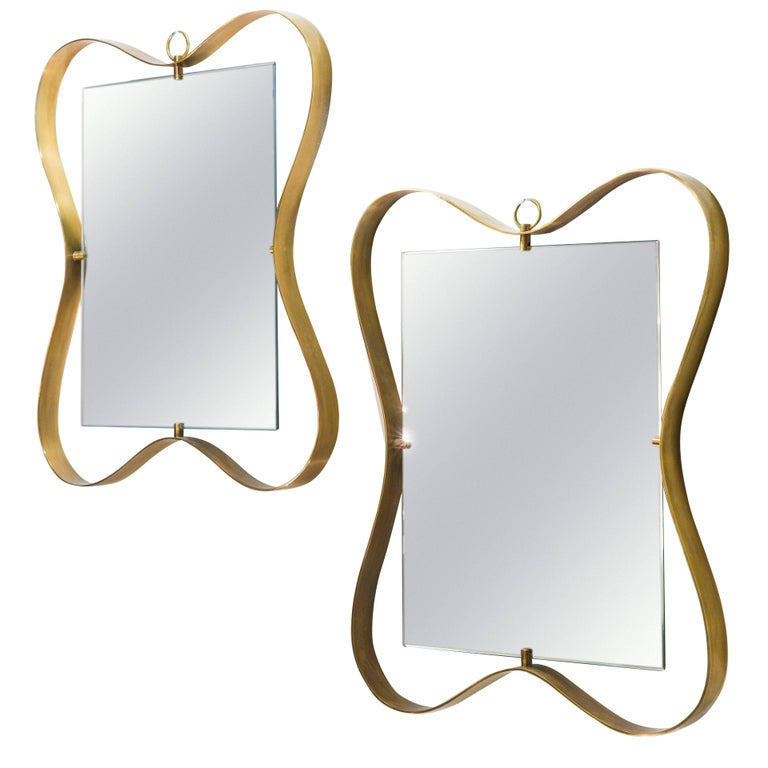 Fontana Arte Pair of Small Mirrors For Sale