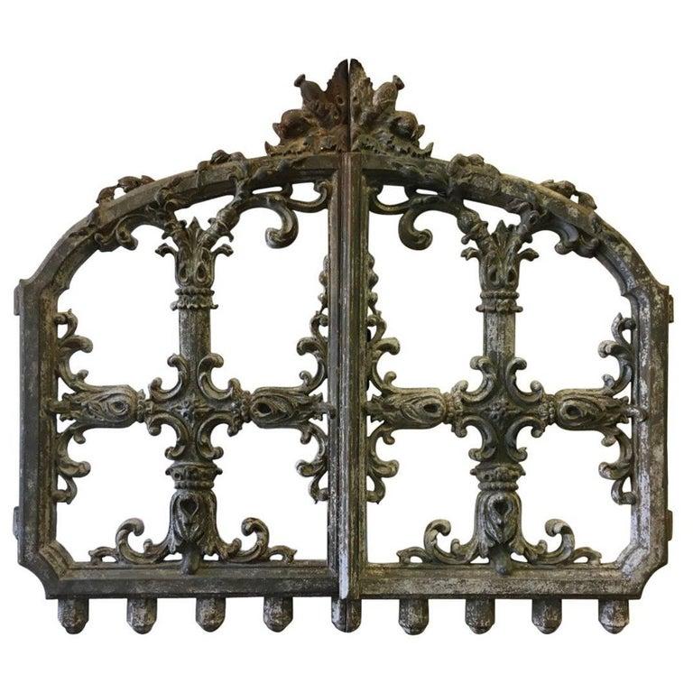 19th Century Scottish Thistle Garden Gate