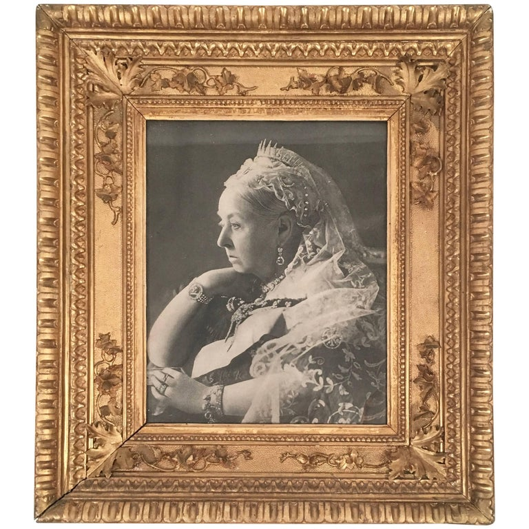 Portrait of Queen Victoria in Antique Giltwood Frame