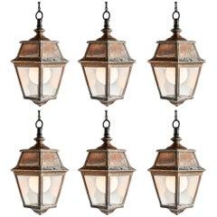 Copper and Glass Lanterns, circa 1920