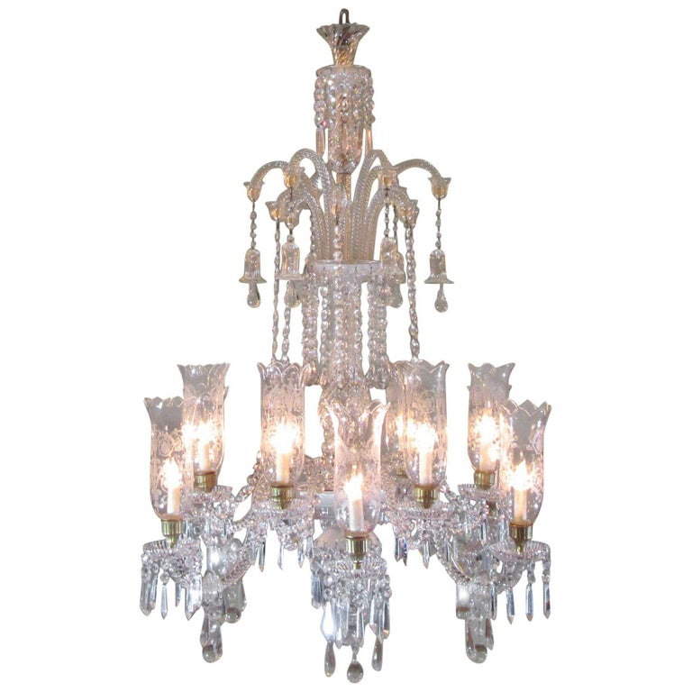 Monumental 19th century french baccarat crystal chandelier with monumental 19th century french baccarat crystal chandelier with hurricanes for sale aloadofball Images